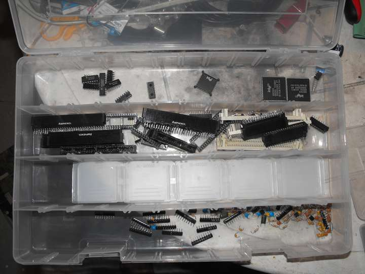 Parts off the 386 motherboard